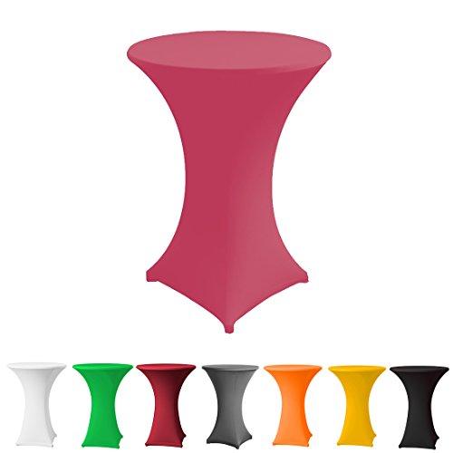 Stehtischhusse Stretch in Farbe pink und Durchmesser 60-65 für Bistrotisch/Stehtisch