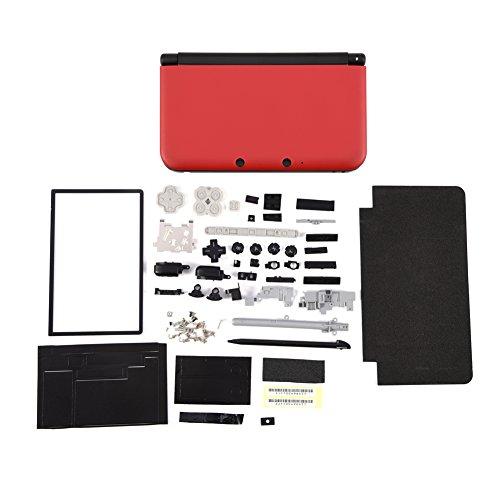 Zerone Komplett Gehäuse Shell Case Reparatur Ersatzteile Kits für Nintendo 3DS XL(Rot) (Nintendo 3ds Rot Xl)