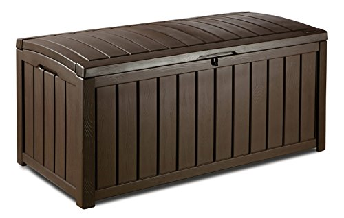 Keter Arcón Glenwood 390L de color marrón. Baúl de almacenamiento exterior -...