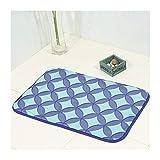 AMDXD Set Polyester Teppiche Kieselstein Design Teppiche für Wohnzimmer Küche Flur Schlafzimmer Kinderzimmer Blau 60x40CM