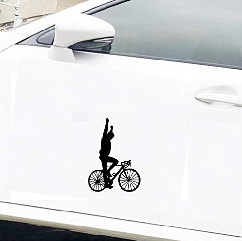 11Cmx15.4Cm Manos de alta bicicleta deportiva Acrobacia Calcomanía de bicicleta Decoración fresca Etiqueta engomada del coche para el ordenador portátil Etiqueta de la ventana del ordenador portátil