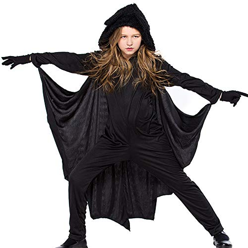 Kind Kostüm Queen Spider - Deman outfit-Artistic9 Fledermaus Halloween Kostüm Vampir Fledermaus Overall Halloween Thema Party Maskerade Cosplay Dress up für Männer Frauen Kinder