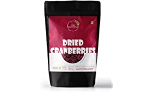 Raw Essentials Dried Cranberries, 500 g [Unsulphured, Unsweetened]