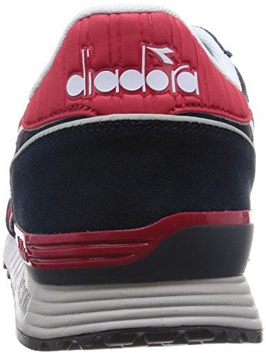 Diadora Titan Ii - Pompes à plateforme plate mixte adulte Multicolore (C2546 Blu Profondo/Rosso Cina)