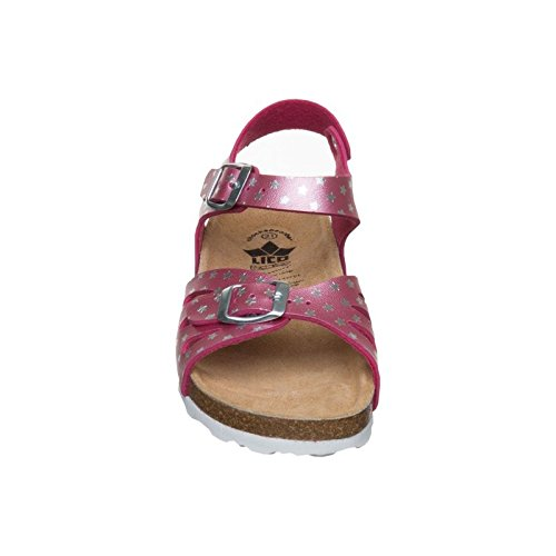 Lico Bioline Sandal, Chaussons Bas Femme Pink (PINK/SILBER)