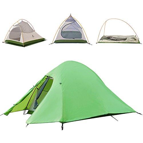 Topnaca 123Person Double Layer Rucksackreisen Zelt frei, bieten einen...
