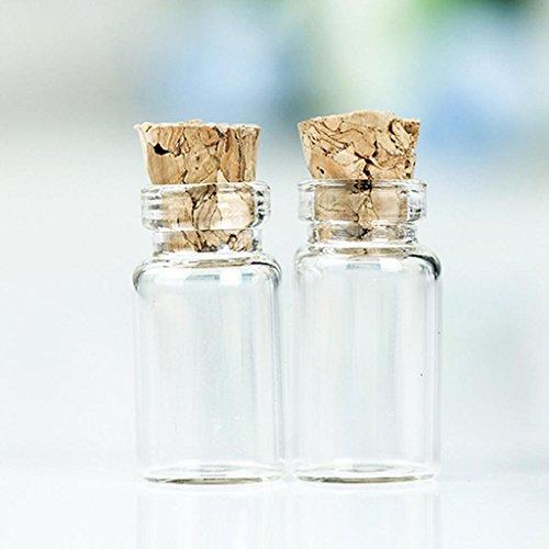 (50pcs 1ML 11X22mm Frei-Flaschen Glas Phiolen mit Korken)