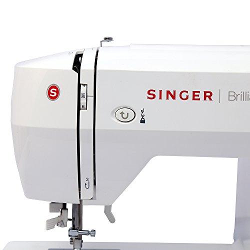 SINGER Freiarm-Nähmaschine Brilliance 6180 inllusive großen Anschiebetischs -
