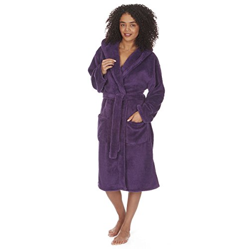 ladies-womens-soft-flannel-fleece-hooded-snuggle-dressing-gown-robe-nightwear