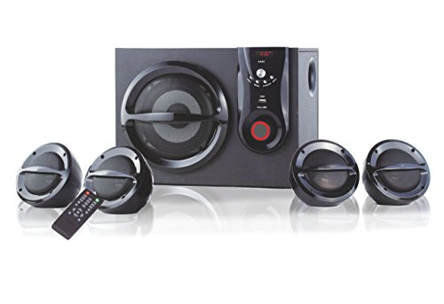 Oshaan L777 4.1 Channel Multimedia Home Theatre System, Bluetooth Connectivity, FM, USB/SD Card Reader, Digital Display, Remote Control