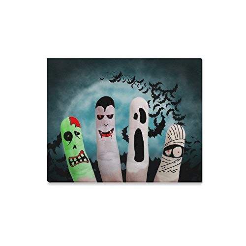 QuqUshop Wandkunst Malerei Painted Finger Monster Halloween Zombie Vampire Drucke Auf Leinwand Das Bild Landschaft Bilder Öl Für Zuhause Moderne Dekoration Druck Dekor Für Wohnzimmer (Kunst Verwandte Kostüm)