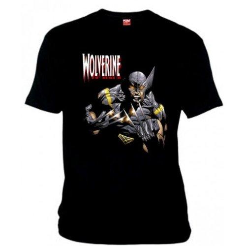 Camiseta Lobezno x-men (garras) (Talla: Talla L Unisex Ancho/Largo [56cm/74cm] Aprox], Color: Negro)