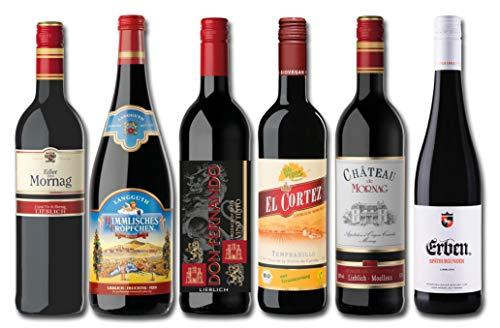 Liebliches Rotwein Probierpaket (5 x 0.75 l, 1 x 1 l)
