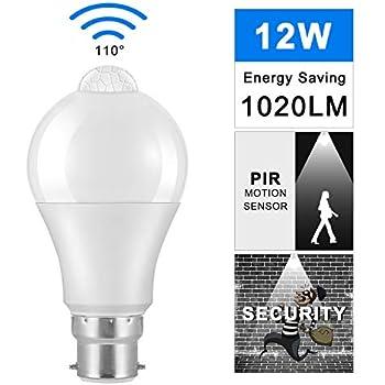 1//2 Pcs E27 B22 10W LED Sensor Light Bulb Automatic Dusk to Dawn Auto ON//OFF