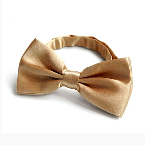 Krawatten YIXINYI Fliege Bowknot Männer Und Frauen Wild Einfarbig Glatt (Farbe : Champagner)