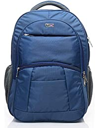 FLYIT Large Laptop Backpack School Backpack with 3 Compartments Blue Polyester Trendy Water Resistant Travel Backpack Blue Color