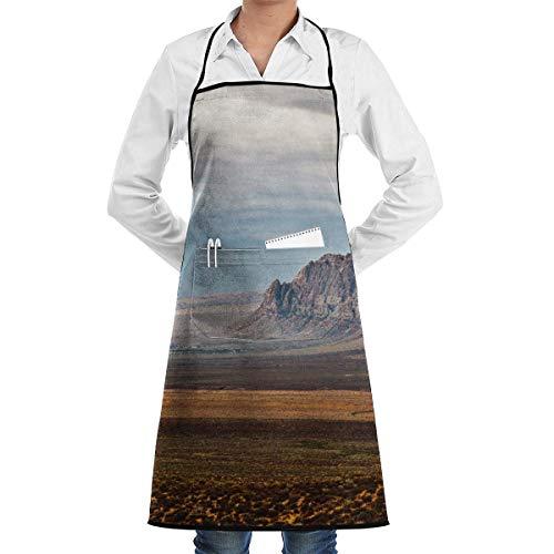 VAICR Kochschürze Küchenschürze,Red Rock Canyon Adjustable Half Body Pocket Apron Bib Apron for Unisex Chef's Gifts Kitchen Decor,Extra Long Ties Women Men BBQ Baking Cooking - Langer Rock Aus Mikrofaser Rock