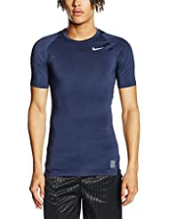 buy online c1b6a 173d0 Nike Shirt Cool Compression Short Sleeve Top Camiseta-Hombre, Azul  Marino/Gris/