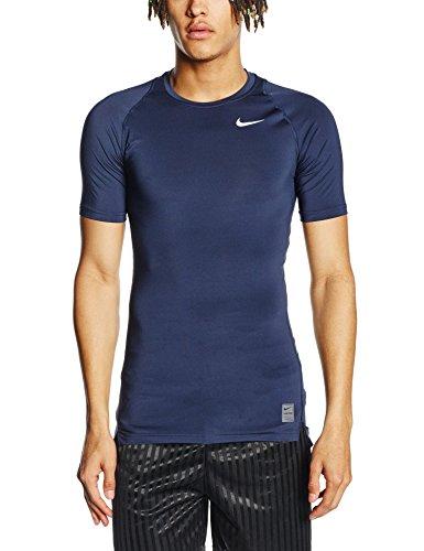 Nike - Maglietta di compressione a maniche corte Uomo - Blu ( Obsidian/Dark Grey) - L