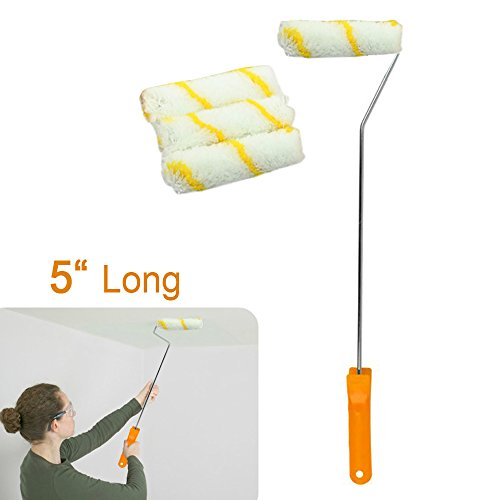 long-handled-4-disposable-paint-roller-heads-gloss-undercoat-emulsion-hard-to-reach-area-plastic-han