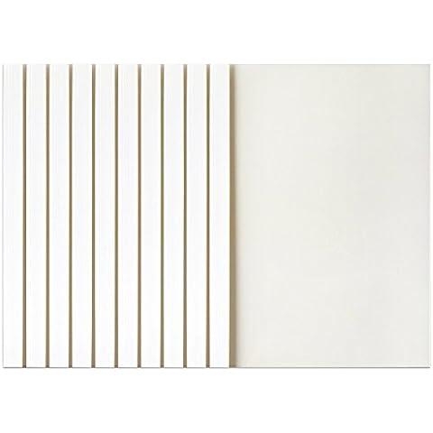 MyLifeUNIT Copertine per Rilegatura Termica, 2mm dorso A4, 25fogli, confezione da 10 2mm white