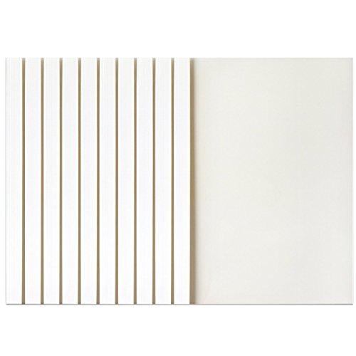 MyLifeUNIT Copertine per Rilegatura Termica, 2mm dorso A4, 25fogli, confezione da 10 6mm white