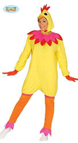 Huhn-Kostm-fr-Damen-Karneval-Fasching-Tier-Henne-Ei-Hhnchen-Gelb-Gr-M-XL-GreL