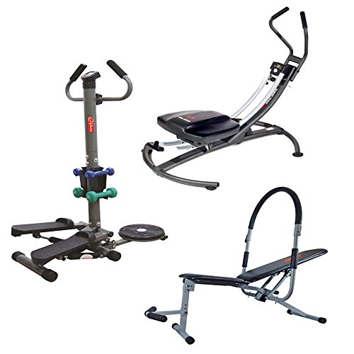 Energie Fitness Combo Pack : Multi Functional Stepper EMFS 001 + Ab King Pro EABP 111 + Ab Glider EABG -112 (1 Year warranty )