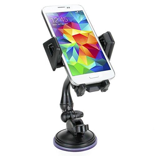 Soporte Ventosa Móvil Coche- Articulado y rotativo - Para Iphone 6s , Plus , 6 , 5s , 5c , 4s / Motorola Moto G / Dogee DG310 / Huawei P8 Lite / BQ Aquaris X5 / Samsung Galaxy J5 / Moto G4 Plus