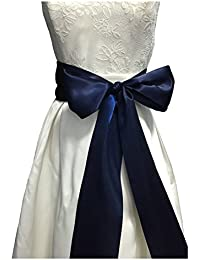 Lemandy - Cinturones para vestido de novia, hechos a mano, simples, B18