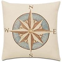 lfarncomboutlet náuticos brújula 1844de imagen manta de lino y algodón cuadrado Funda de almohada Funda de cojín 18x 18pulgadas