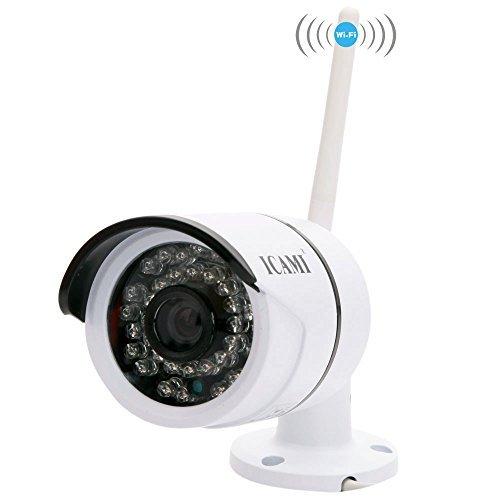ICAMI CA807A-R HD 36IR 720P IP-Kamera Outdoor Wlan Kamera außen Wasserdichte Überwachungskamera Sicherheits System und Nachtsicht (Sicherheit Zu Hause-surveillance-system)