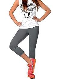 c19d32eb86530a FUNGO Leggings Für Damen 3 4 Länge Capri Damen Sporthose Bunte Yoga Leggins  F34