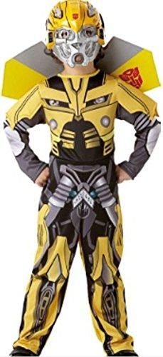 erdbeerloft -Jungen Karneval Komplettkostüm Transformers Bumble Bee Polster Anzug, gelb schwarz, 7-8 (Bee Bumble Jungen Kostüm)