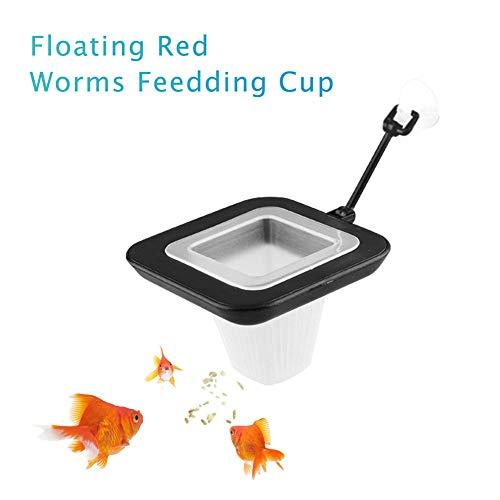 Zexa Fisch-Fütterungsschale-Aquarium-roter Wurm-Schalen-Trichter-Kegel-Zufuhr (Aquarium Schalen Fisch)
