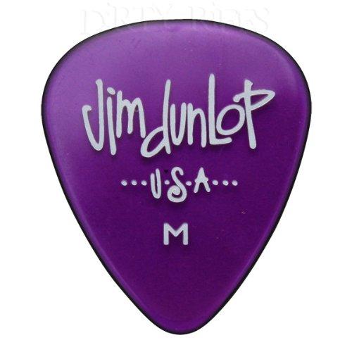 12 x Dunlop Gels Gitarren-Plektren, Violett, Mittel, In Plektrumdose)