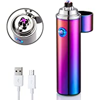 Electric lighter, FORHU Electronic Arc Lighters Windproof USB Rechargeable Lighters