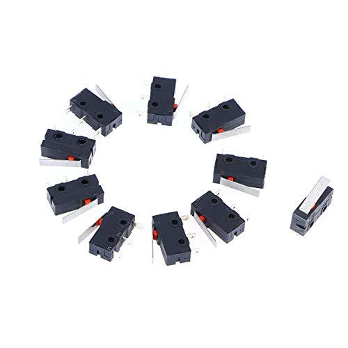 WINOMO Premium-125V AC 5 Ampere SPDT 1NC 1NO kurzen geraden Scharnier Hebel Mini Mikro schalter - 10 - Mikroschalter Endschalter