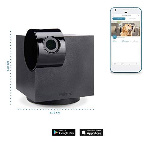 kamera Full HD | 360° | WiFi | Nachtsicht | autom. Geräuscherkennung für Haustier/Hund/Katze/Baby/Security, Videos aufnehmen & teilen, Haustierkamera mit App (IOS/Android) ()
