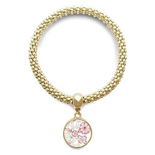 e Frische Blumen Gras dekorative goldene Armband Laufende Anhänger Schmuck-Kette ()