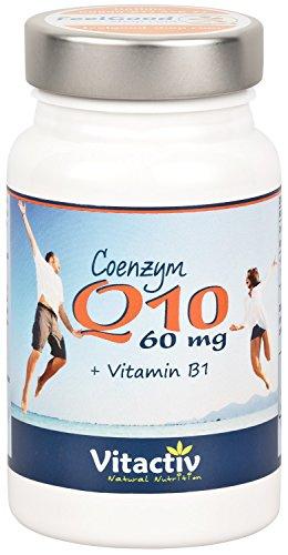 COENZYM Q10 & Vitamin B1-60mg - Hochdosiert, natürlich, wirksam - Einzigartiges Q 10 Produkt (90 Q10 Kapseln für 3 Monate)