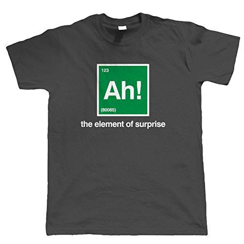 Ah, The Element of Überraschung, Lustig Herren T-Shirt Dunkelgrau