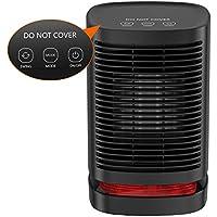 Calefactor Eléctrico Portátil Calentador 950W Calefactor de Aire Caliente Termoventiladores de Ventilador Calentador de Cerámica de