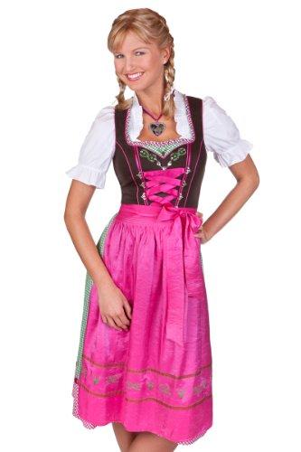 Spieth & Wensky Trachten Mididirndl mit 2 Schürzen - LOISA - pink Größe 32