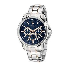 Idea Regalo - Orologio da uomo, Collezione Successo, con movimento al quarzo e funzione cronografo, in acciaio e PVD oro rosa - R8873621008