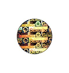 Hologram Stickers Genuino Authentico, 25 Mm, Pack of 2500