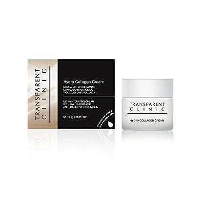 Transparent Clinic – Crema ultra hidratante – con ácido hialurónico y colágeno hidrolizado – 50 ml