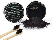 Jadole Naturals Teeth Whitening 100% Naturals & Bamboo Toothbrush x2