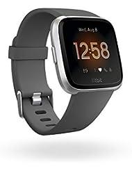 Fitbit Versa Lite, Smart-Watch Unisex Adulto, Nero/Grigio, Taglia Unica