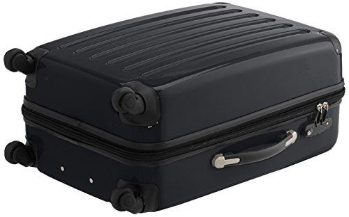 HAUPTSTADTKOFFER - Alex - 2er Koffer-Set Hartschale glänzend, TSA, 65 cm + 55 cm, 74 Liter + 42 Liter, Orange-Aubergine Schwarz